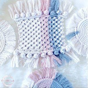 💜Handmade Macrame Coasters;Made2Order>Pick Colors